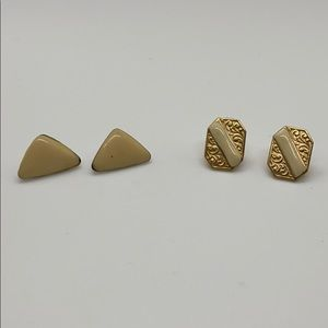 Vintage gold stud earring bundle